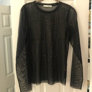 Aritzia: Wilfred Sheer Long-sleeved T, size Large